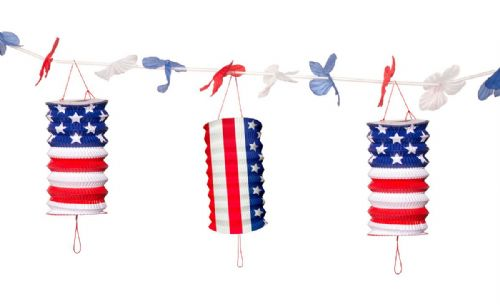 USA Party Lantern Garland 360cm United States of America